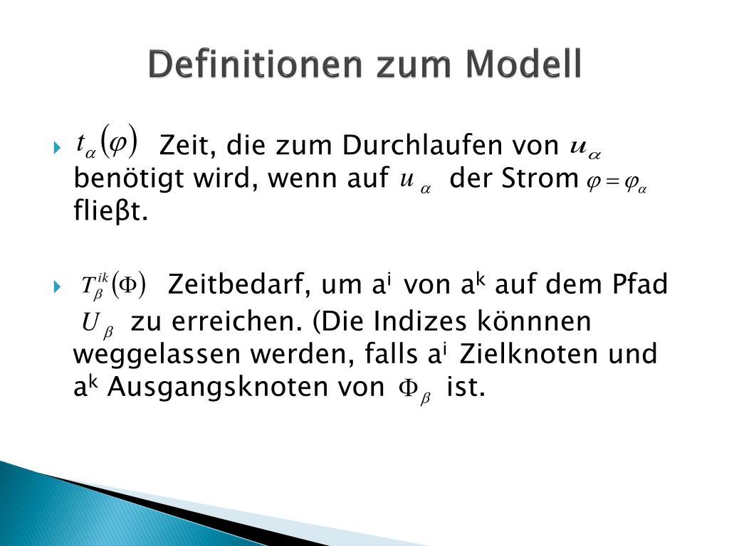 Definitionen zum Modell