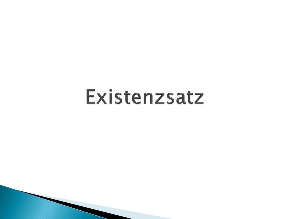 Existenzsatz