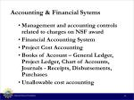 accounting financial sytems
