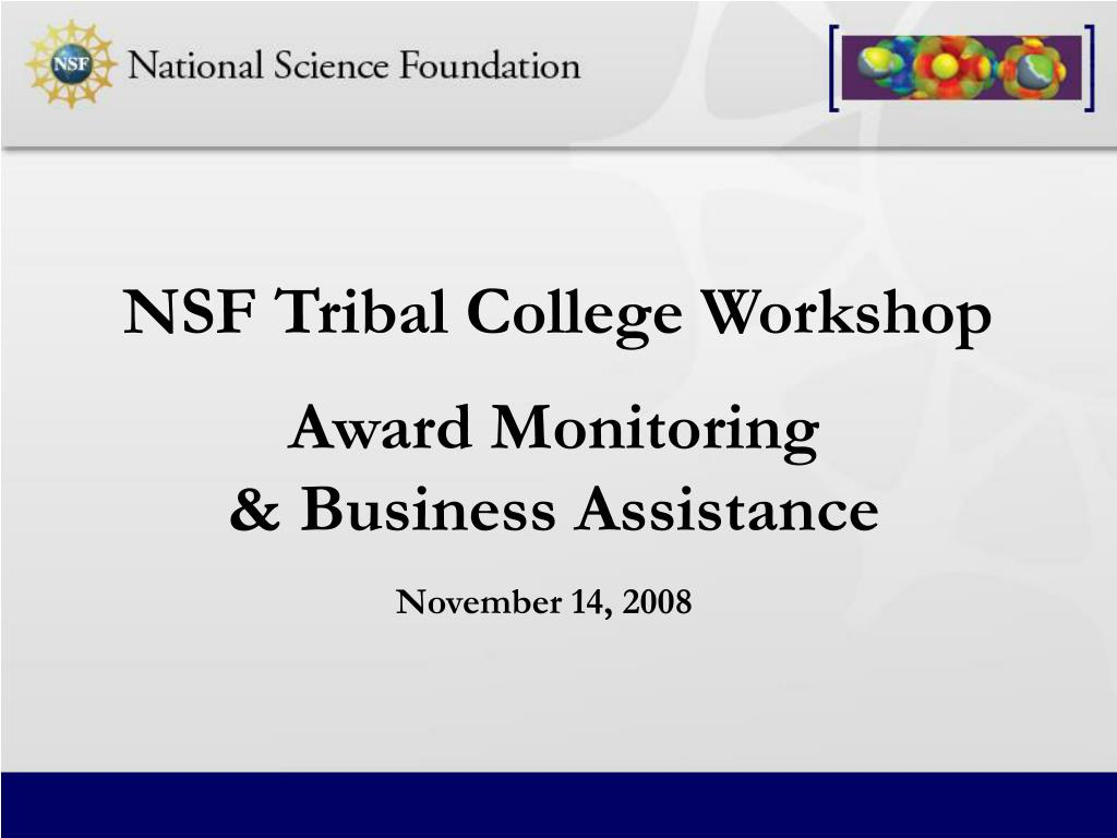 award monitoring business assistance l.