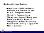 business system reviews