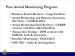 post award monitoring program