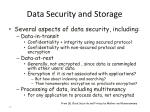 data security and storage