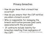 privacy breaches