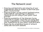 the network level