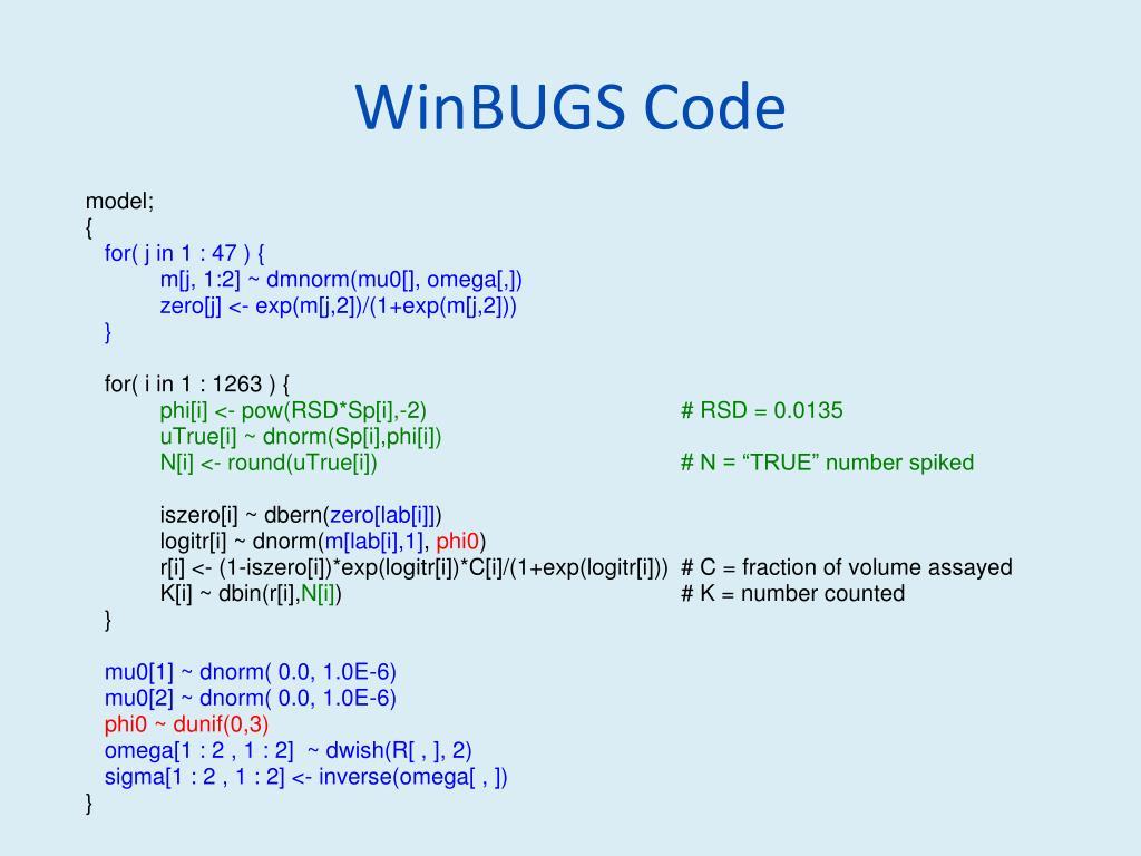 WinBUGS Code