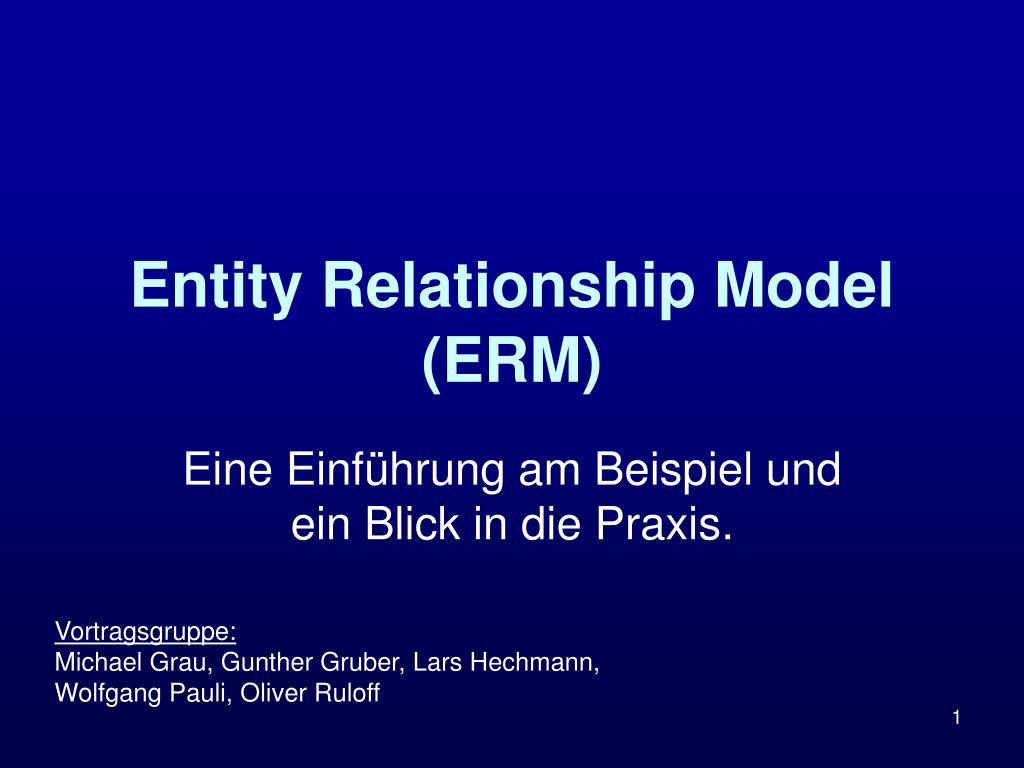 entity relationship model erm l.