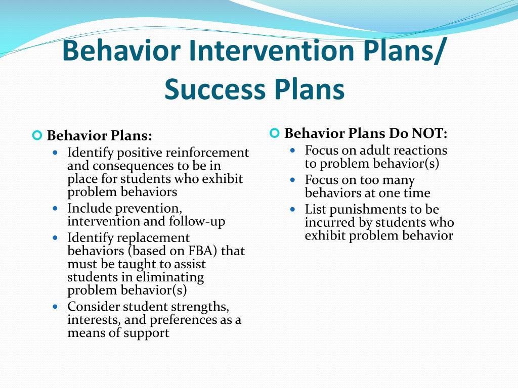 Behavior Intervention Plans/