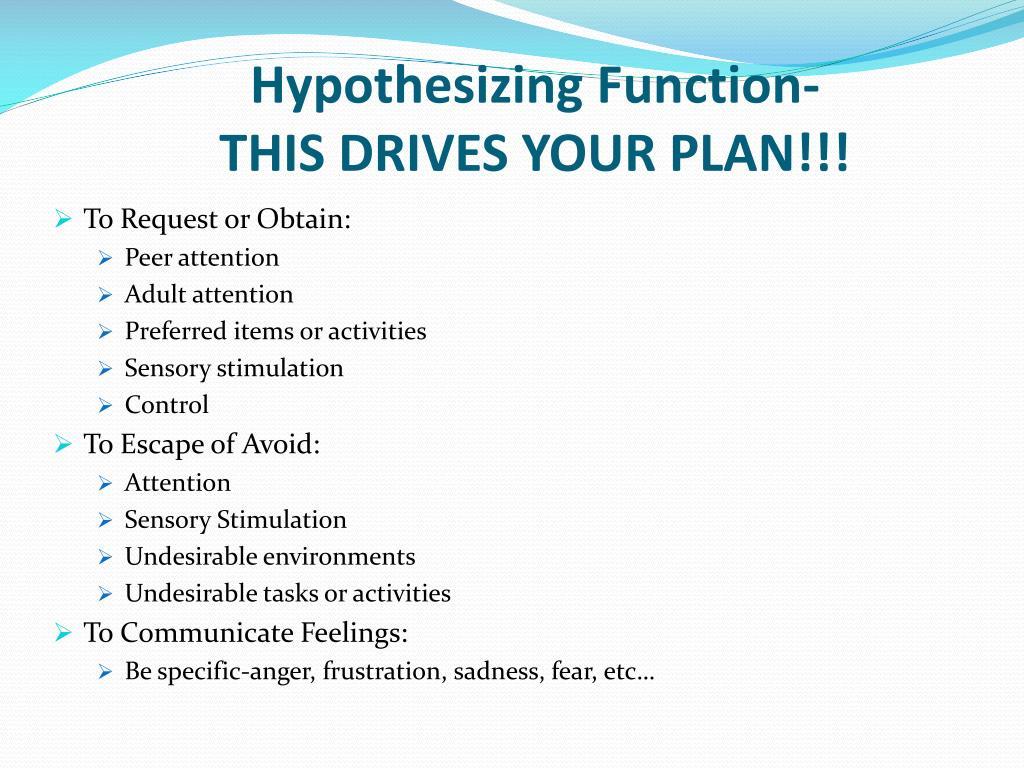 Hypothesizing Function-