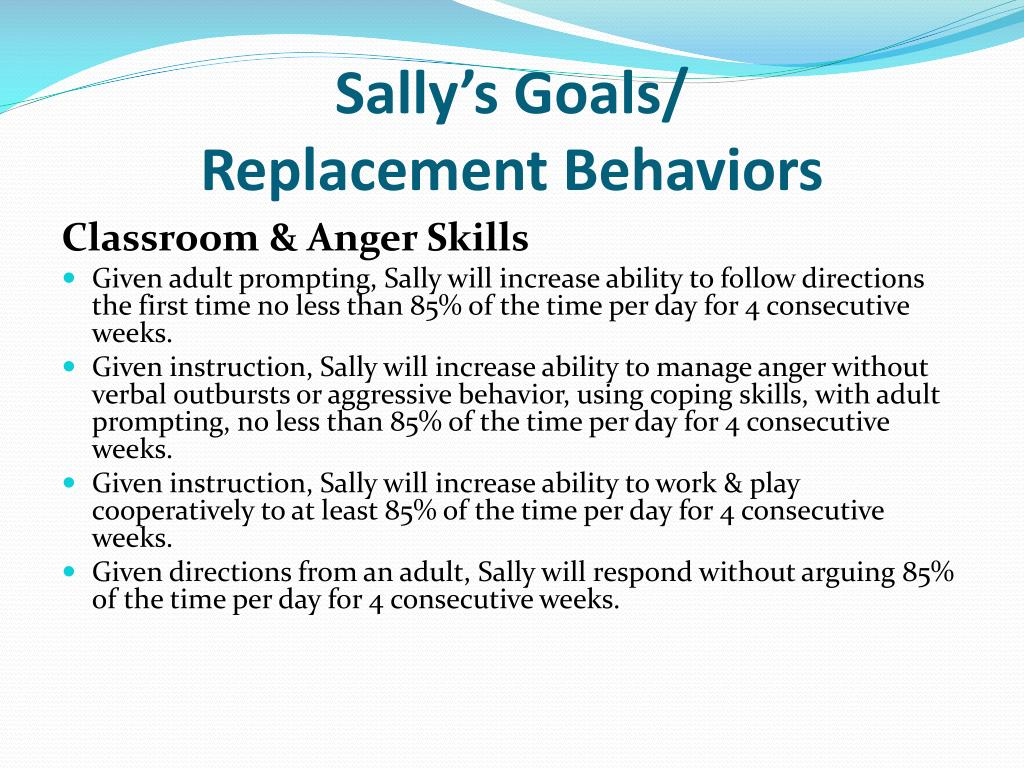 Sally's Goals/