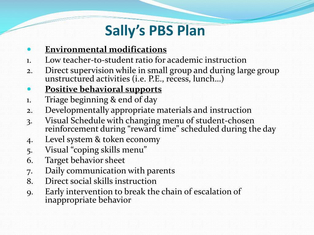 Sally's PBS Plan