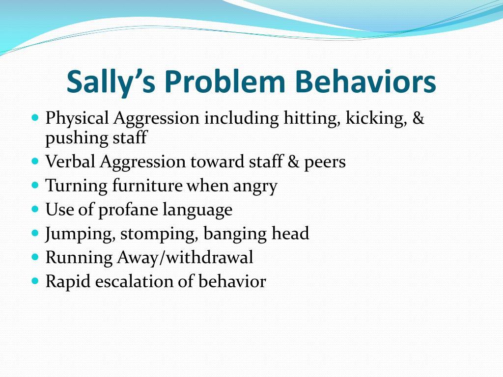 Sally's Problem Behaviors