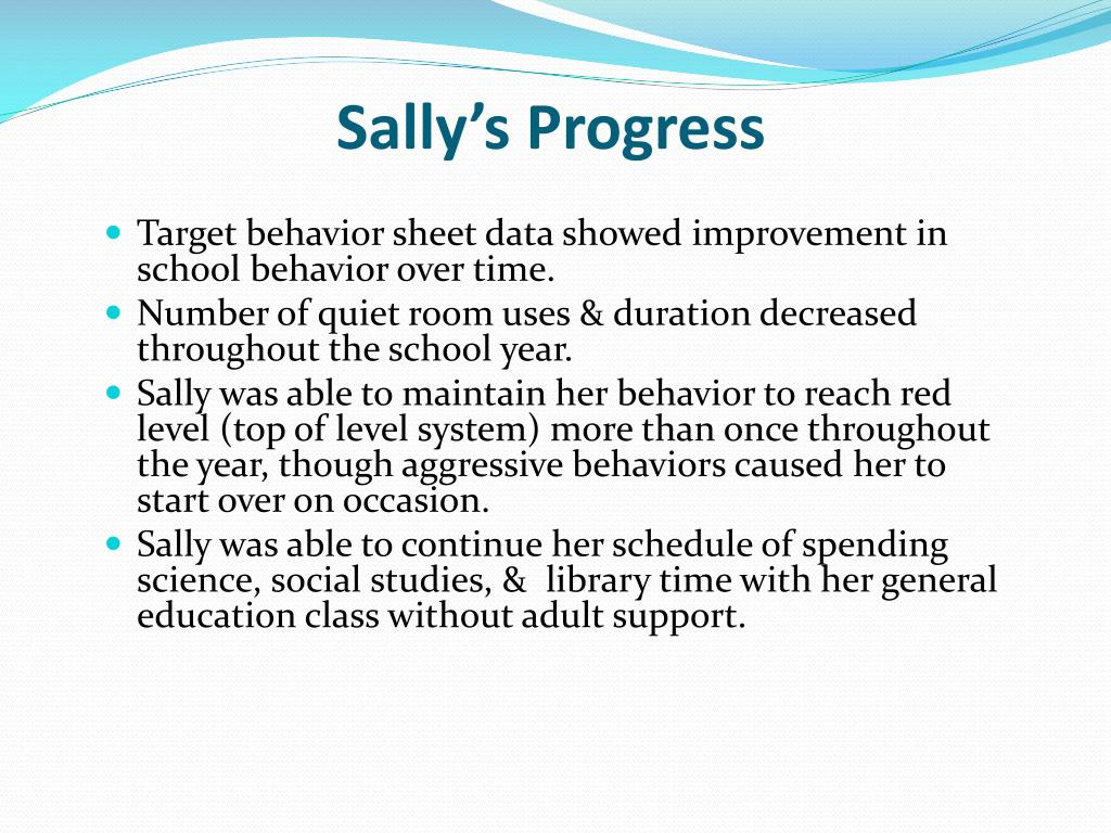Sally's Progress