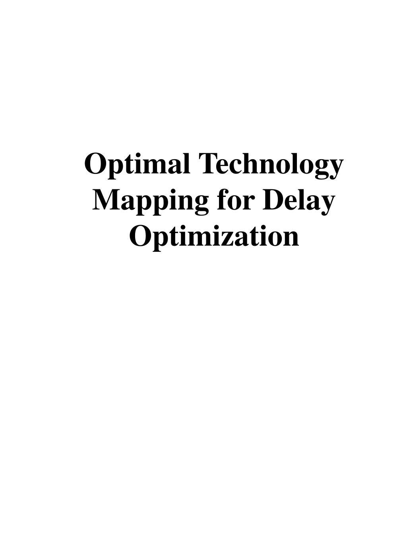 Optimal Technology