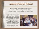 annual women s retreat
