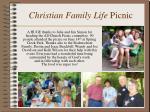 christian family life picnic