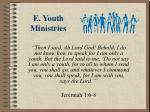 e youth ministries