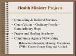 health ministry projects