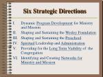 six strategic directions