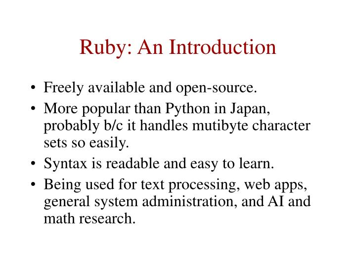 Ruby an introduction3