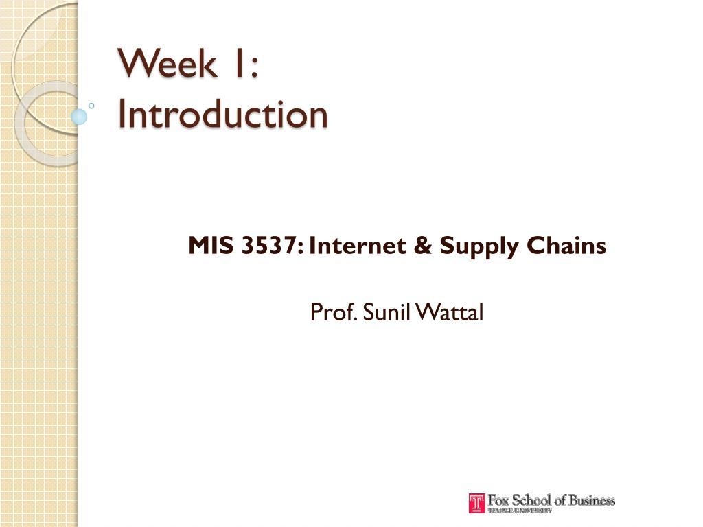week 1 introduction l.