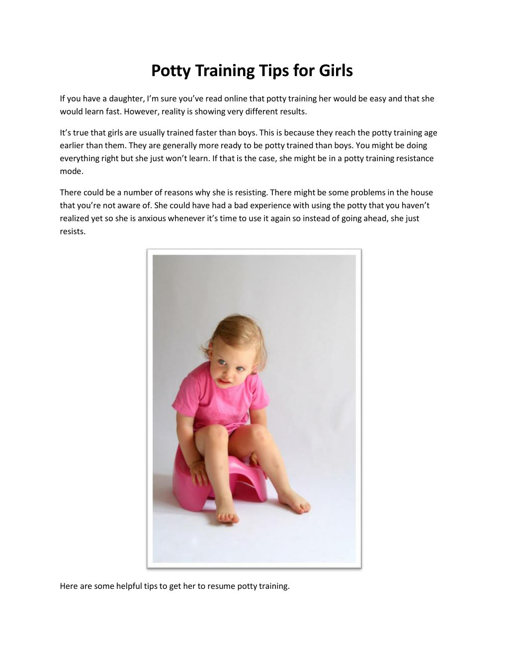 PPT - How to Potty Train a Girl PowerPoint Presentation - ID