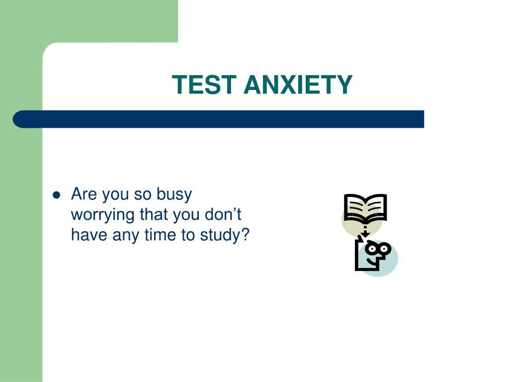 test anxiety l.