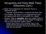 recognizing and fixing weak thesis statements cont10