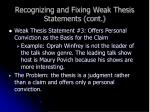 recognizing and fixing weak thesis statements cont11