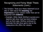 recognizing and fixing weak thesis statements cont12