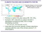 climate policies and co benefits for pm