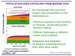 population wide exposure from marine fish
