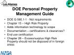 doe personal property management guide