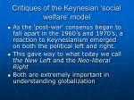 critiques of the keynesian social welfare model