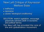 new left critique of keynesian welfare state