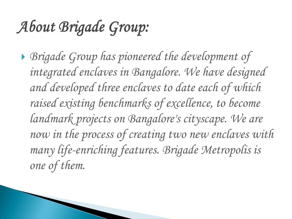 About Brigade Group