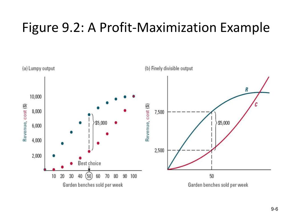 Figure 9.2: A Profit-Maximization Example
