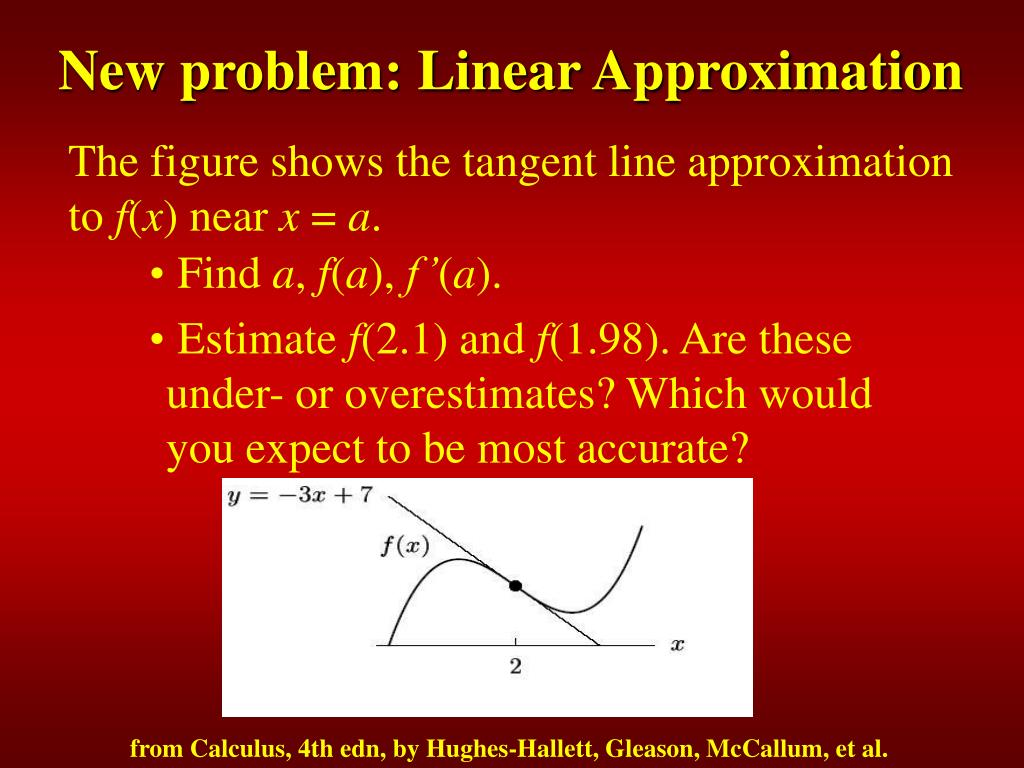 New problem: Linear Approximation