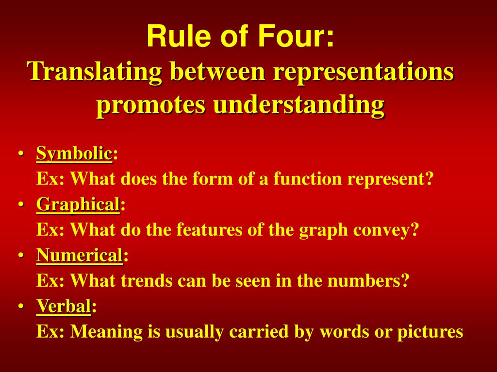 Rule of Four: