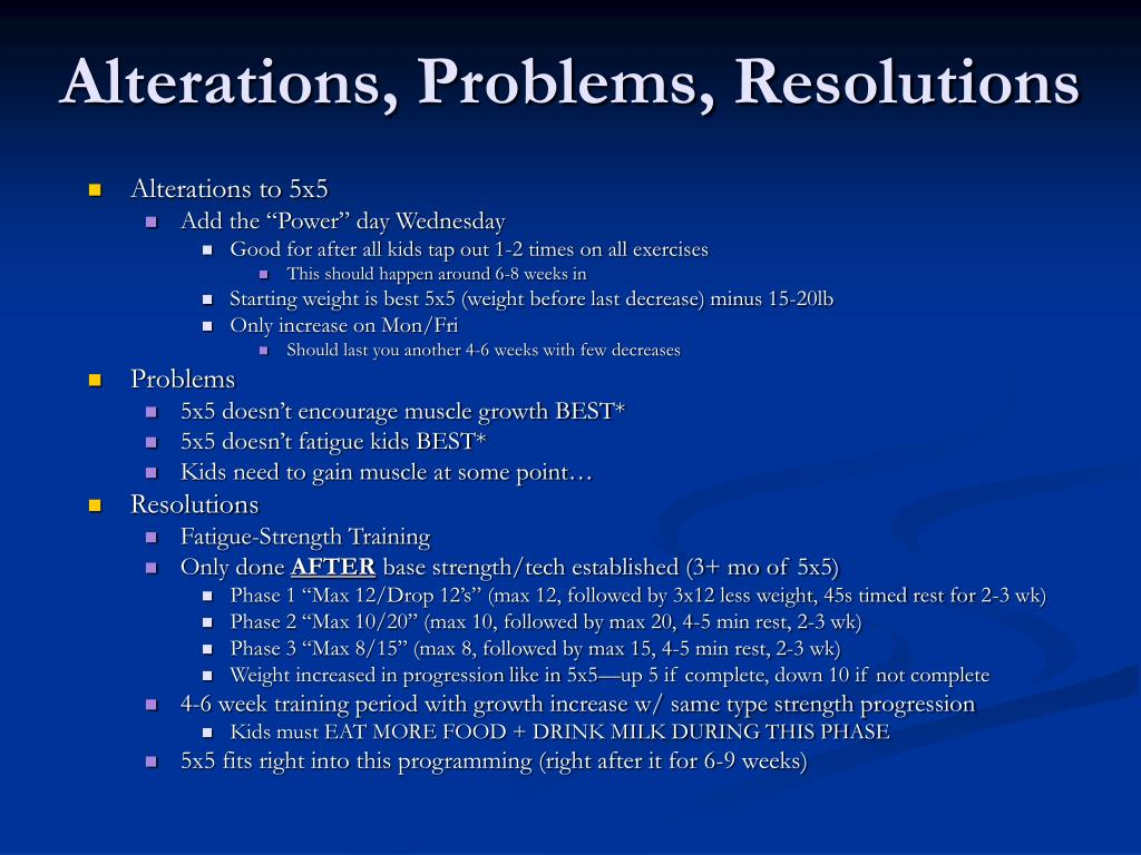 Alterations, Problems, Resolutions