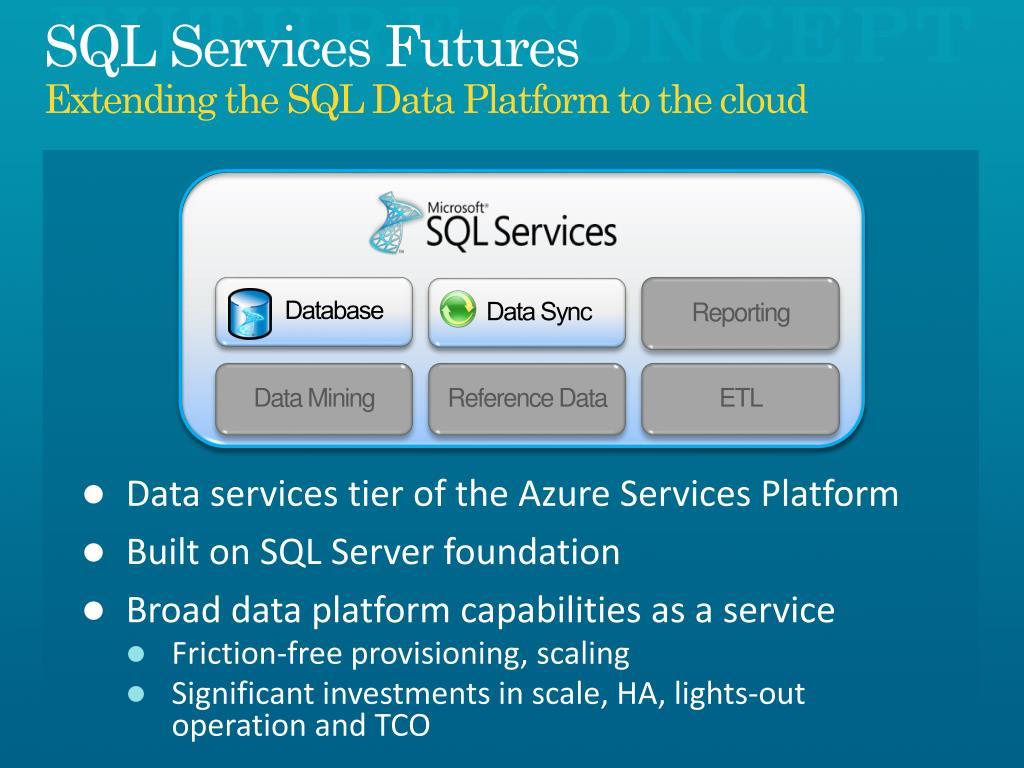 SQL Services Futures