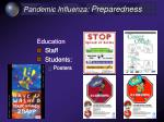 pandemic influenza preparedness37