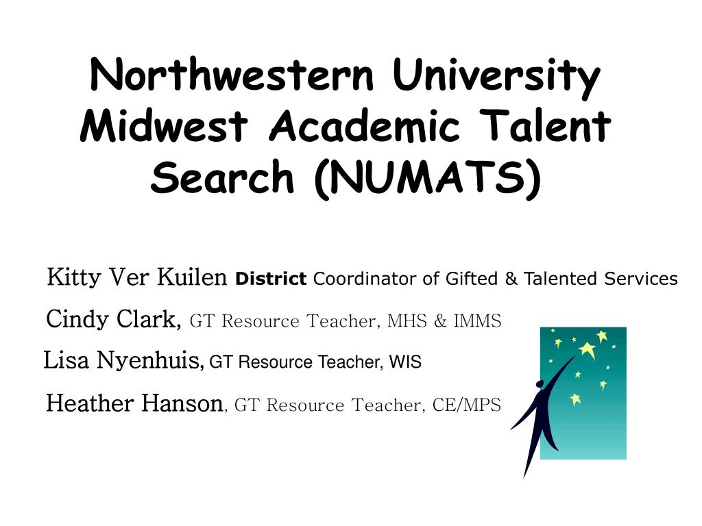 northwestern university midwest academic talent search numats l.