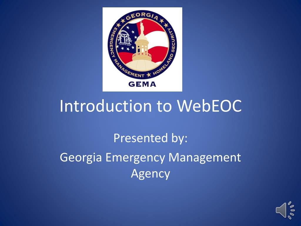 introduction to webeoc l.