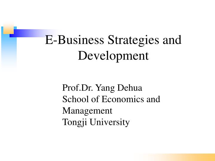 e business strategies and development n.