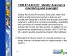1300 67 2 2 d 1 quality assurance monitoring and oversight