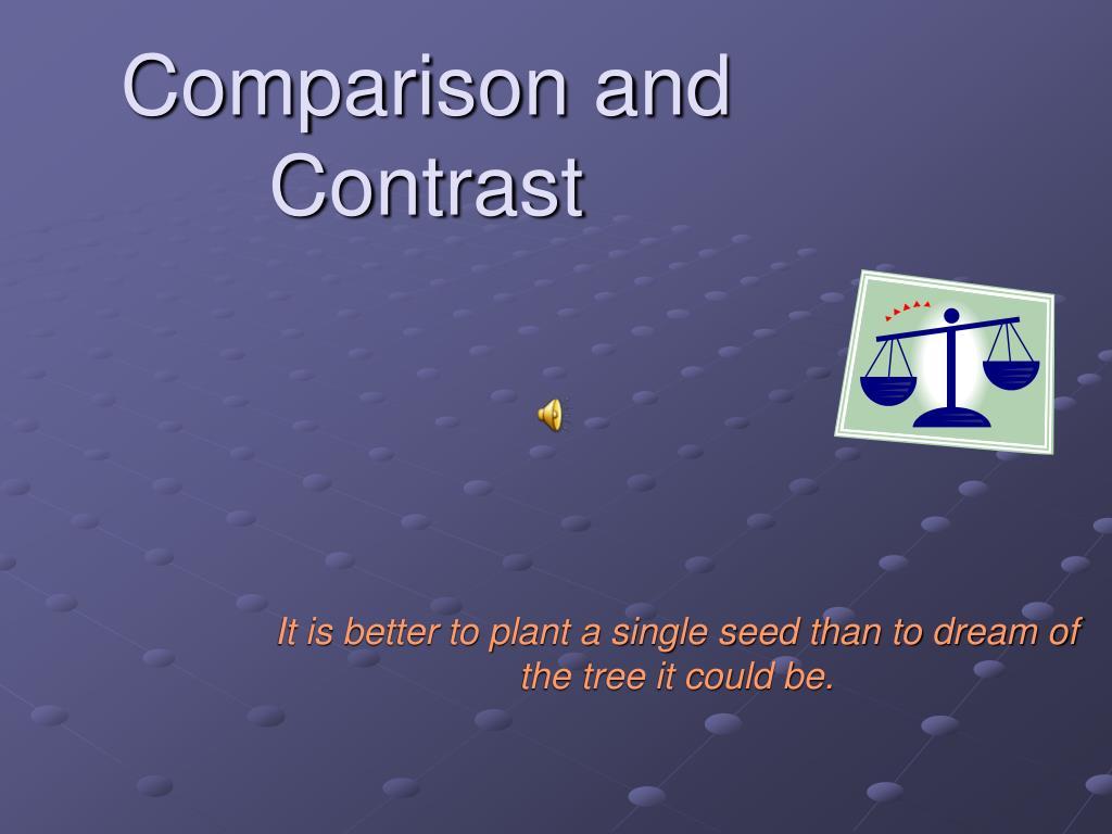 comparison and contrast l.