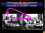 ontologies do not represent concepts in people s heads