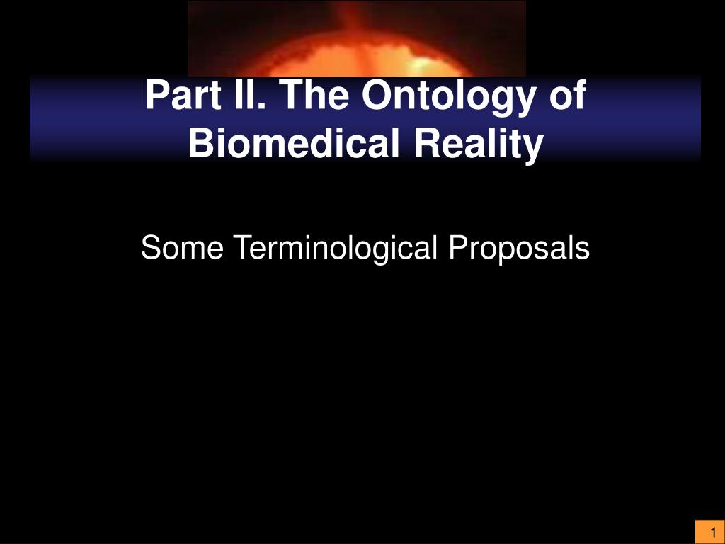 part ii the ontology of biomedical reality l.