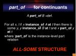 part of for continuants